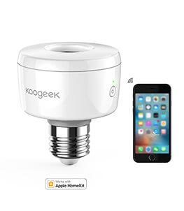 Works with Apple HomeKit, Light Bulb Adapter