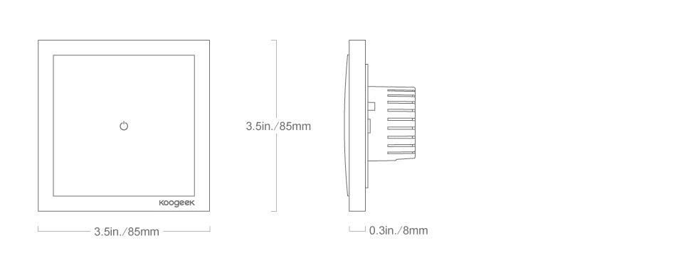 one gang smart light switch