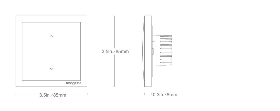 Wi-Fi Enabled Smart Light Dimmer Switch - Koogeek.com