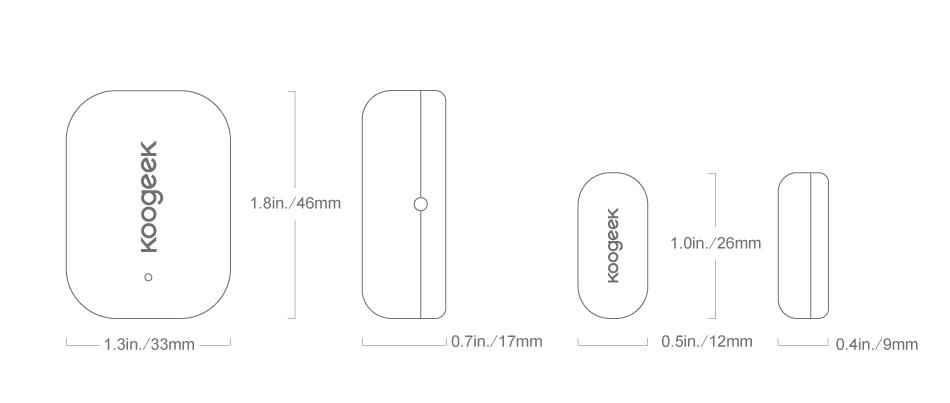 Smart Door and Window Sensor - Koogeek com